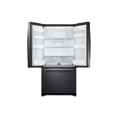 33 in. W 17.5 cu. ft. French Door Refrigerator in Fingerprint Resistant Black Stainless and Counter Depth