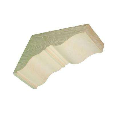 17-3/4 in. x 17-3/4 in. x 7-1/2 in. Unfinished Polyurethane Raised Grain Faux Wood Corbel