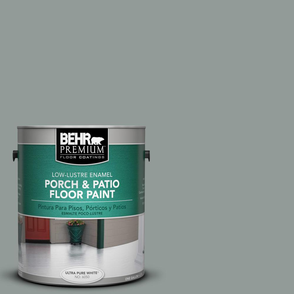 1 gal. #BXC-66 Dusk Blue Low-Lustre Porch and Patio Floor Paint