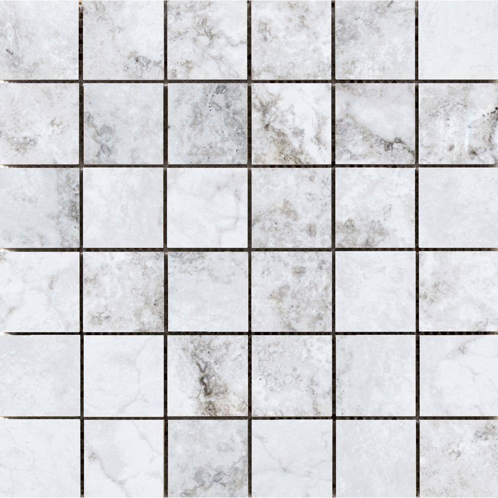 Gateway Grigio 12.99 in. x 12.99 in. x 10mm Porcelain Mesh-Mounted Mosaic Tile