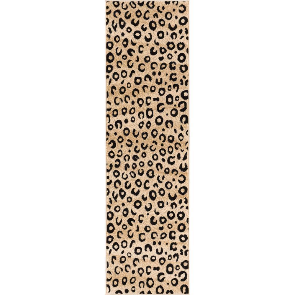 Well Woven Dulcet Leopard Black 2 Ft X 7 Modern Animal Print Runner