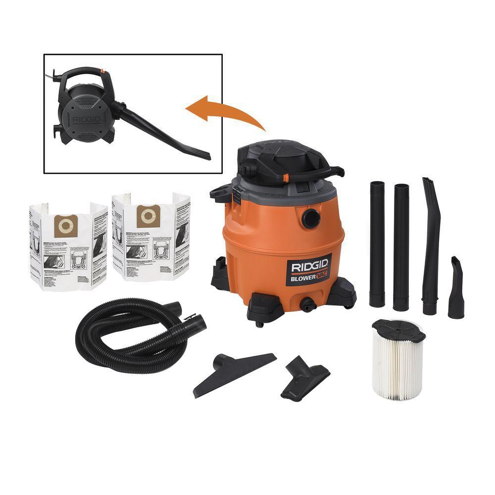 16 gal. 6.5-Peak HP Wet Dry Vac with Detachable Blower and 2 Bonus Filter Bags