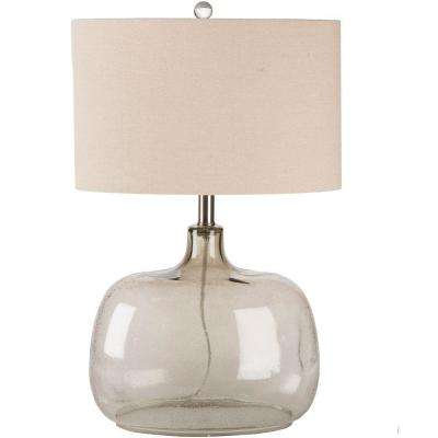 Antoine 24.5 in. Clear Smoke Indoor Table Lamp