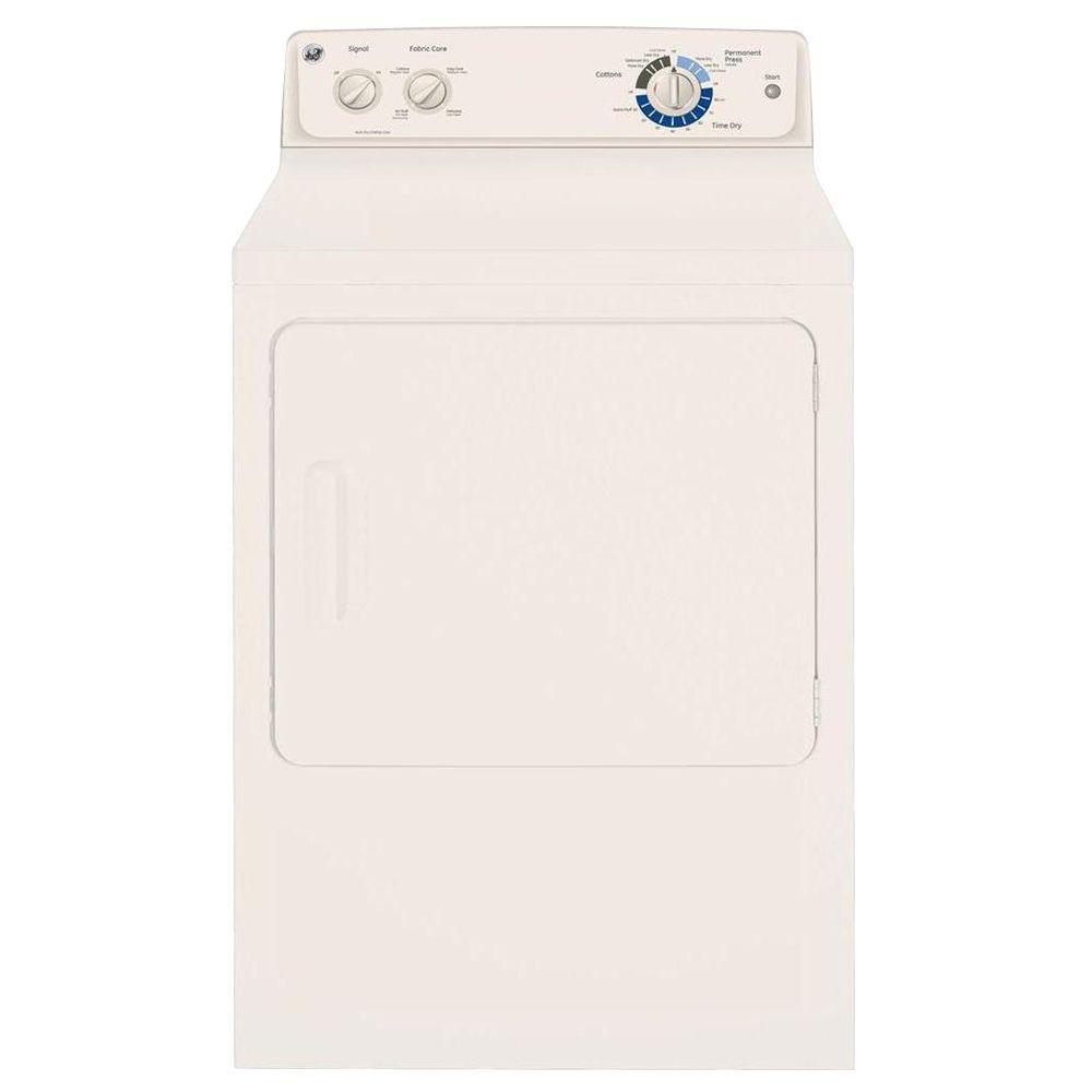 GE 6.0 cu. ft. DuraDrum Gas Dryer in Bisque