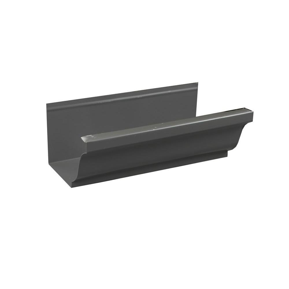 Spectra Metals 6 In X 8 Ft K Style Tuxedo Gray Aluminum
