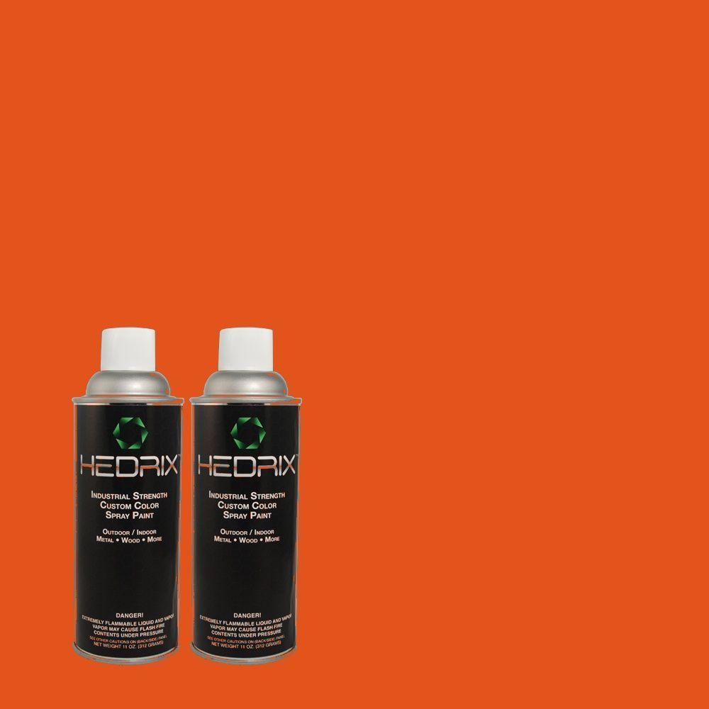 Hedrix 11 oz. Match of 8316 Brick Orange Flat Custom Spray Paint (2-Pack)