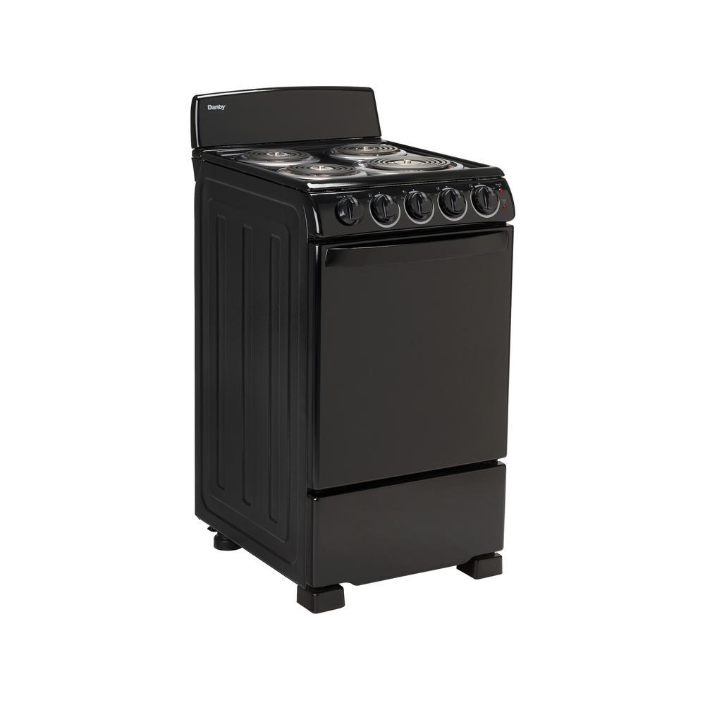Single Oven Electric Range In Black