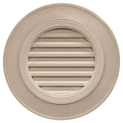 28 in. Round Gable Vent in Wicker (without Keystones)