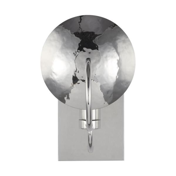 ED Ellen DeGeneres Crafted by Generation Lighting Whare 5 in. Polished Nickel Sconce
