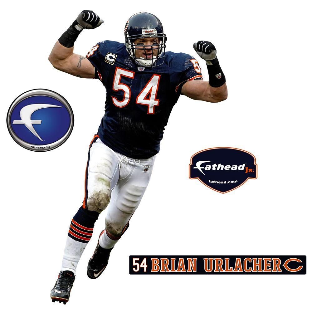 Fathead 20 in. x 32 in. Brian Urlacher Chicago Bears Wall Decal