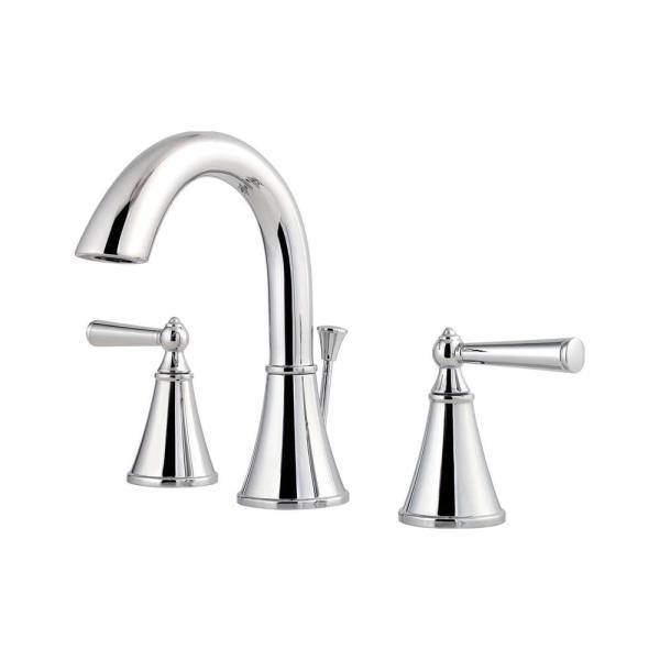 Saxton 8 in. Widespread 2-Handle Bathroom Faucet in Polished Chrome