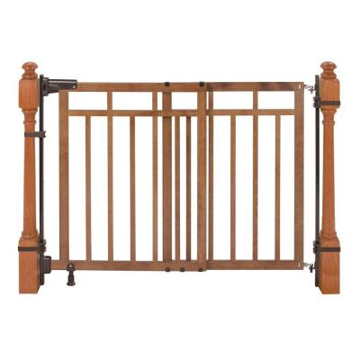 33 in. Banister and Stair Gate with Dual Installation Kit
