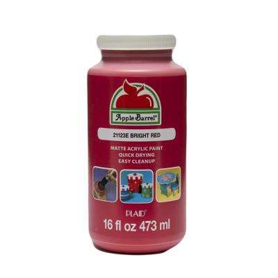 16 oz. Bright Red Acrylic Paint
