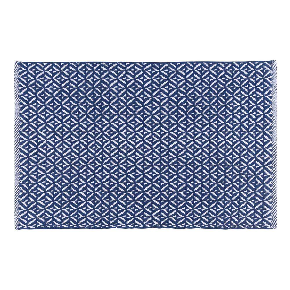 NOW Designs Diamond Indigo 24 in. x 36 in. Woven Kitchen Mat