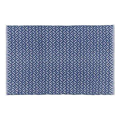 Diamond Indigo 24 in. x 36 in. Woven Kitchen Mat