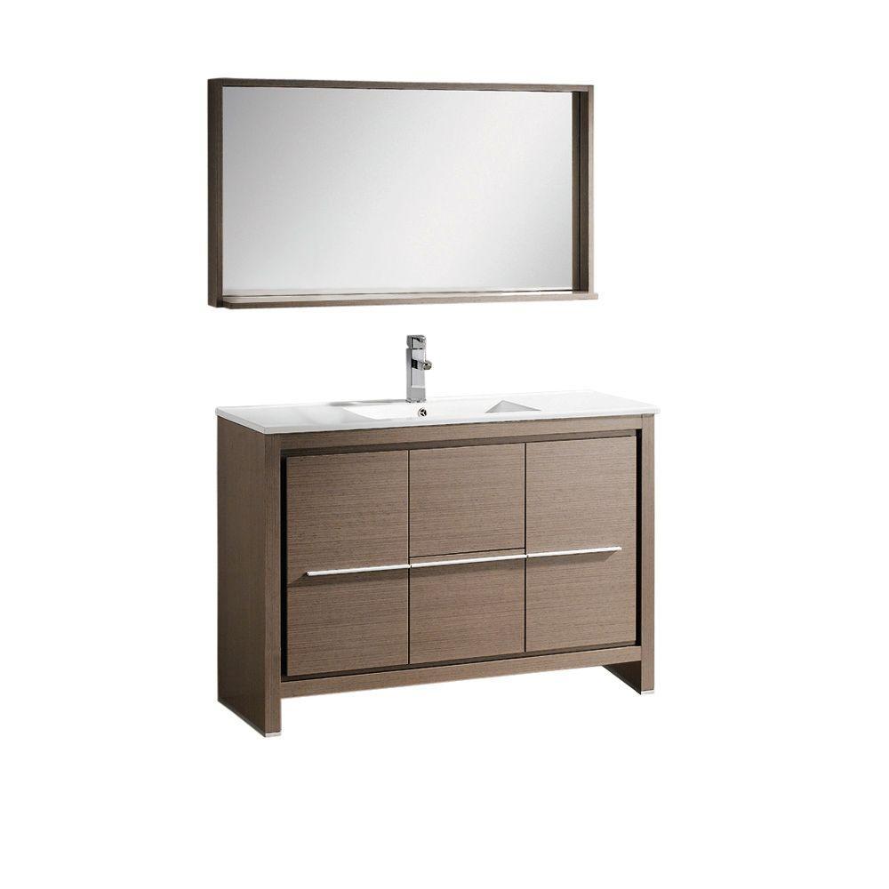48 Fresca Oxford Fvn20 2424mh Traditional Double Sink Bathroom Vanity Mahogany