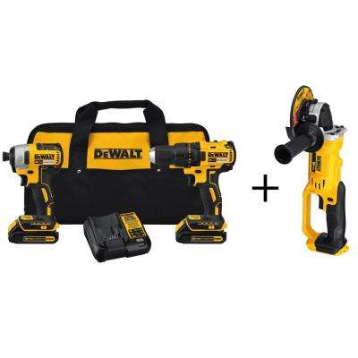 20-Volt MAX Lithium-Ion Cordless Brushless Combo Kit (2-Tool) with Bonus Bare 4-1/2 in. Cordless Grinder