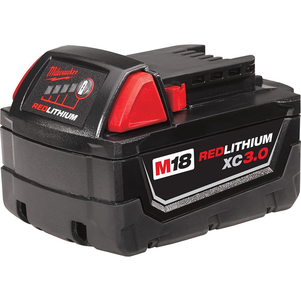 Lot de 2 batteries Li-ion M18 M18B XC 18 V 5 Ah pour Milwaukee M18 M12 18 V 220 V 48-59-1812 48-59-1807 48-59-1806 48-59-1840 20 48-1 1-1828 48-11-1840 avec chargeur 12-18 V 3 A M12-18 C.