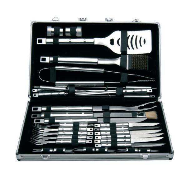 BergHOFF Cubo 33-Piece Stainless Steel Barbecue Set with Case 1108322