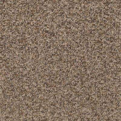 Smoke Trail - Color Weathered Wood Berber 12 ft. Carpet