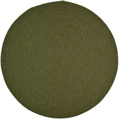 Braided Green 8 ft. x 8 ft. Round Area Rug