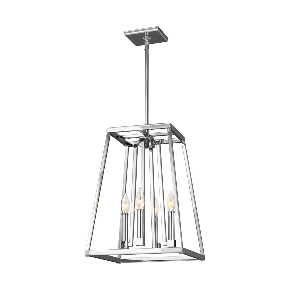 bazz 4 light chrome pendant with clear glass shade p14531cr the