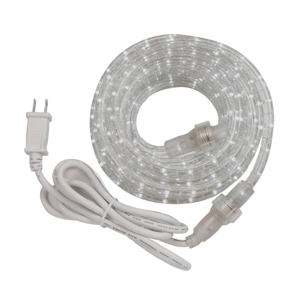 Rope Light Home Depot: Westek 288-Light 24 Ft. Integrated LED Rope Light