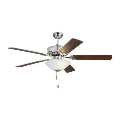 Haven LED 2 52 in. Indoor Chrome Ceiling Fan with Light Kit