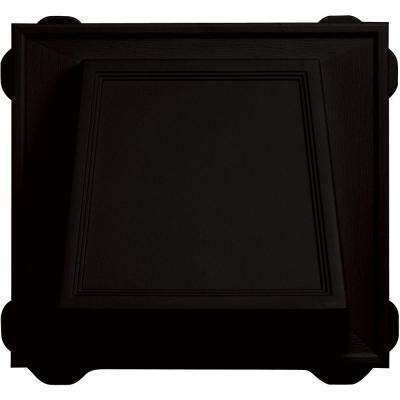6 in. Hooded Siding Vent #002-Black