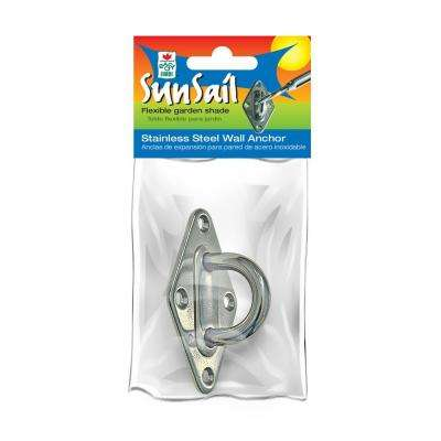 Sun Screen Fabric Shade Canopy Stainless Steel Wall Anchor