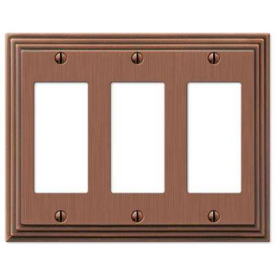 Steps 3 Decora Wall Plate - Antique Copper