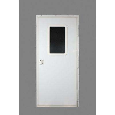 RV Square Entrance Door in Polar White
