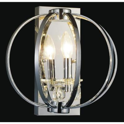 Abia 1-Light Chrome Sconce