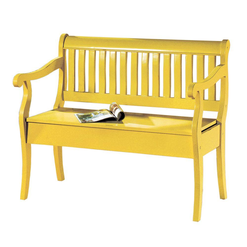 Home Decorators Collection Hamilton 35 in. H x 42.5 in. W Storage Bench in Warm Gold