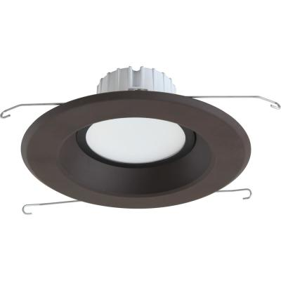 1-Light Indoor/Outdoor 6 in. 3000K Antique Bronze Integrated LED Recessed Retrofit Downlight and Round Trim and Lens