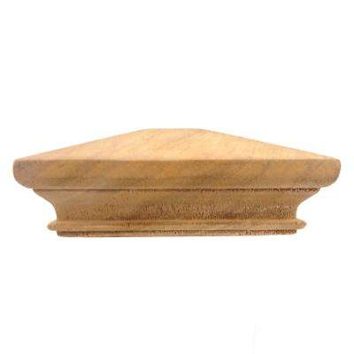 Miterless 5 in. x 5 in. Untreated Wood Pyramid Slip Over Fence Post Cap