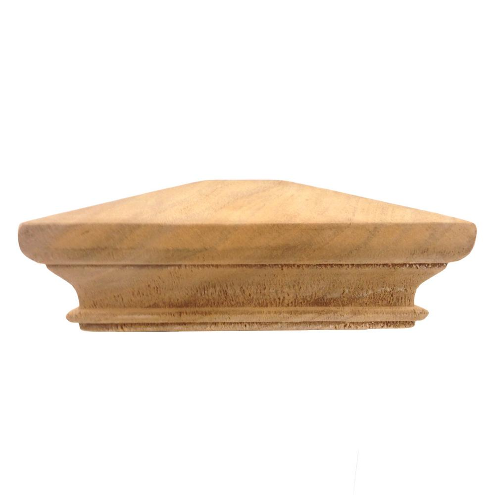7bbe98c99e40d Protectyte Miterless 6 in. x 6 in. Untreated Wood Pyramid Slip Over ...