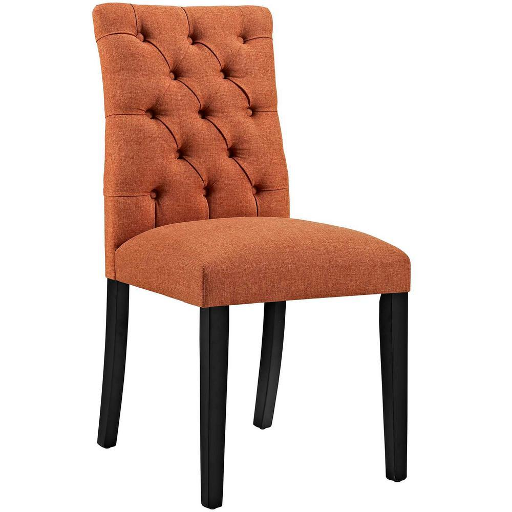 Ss Orange Fabric Dining Chair