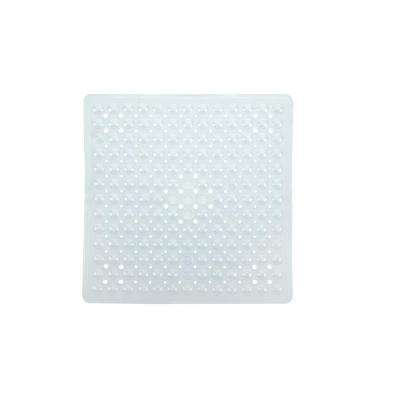 21 in. x 21 in. Square Shower Mat in Clear