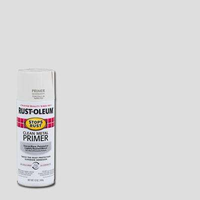 12 oz. Flat White Clean Metal Primer Spray (3-Pack)