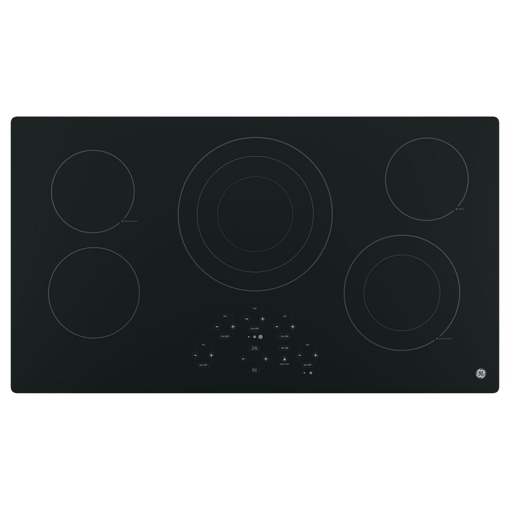 GE 36 in. Radiant Electric Cooktop in Black with 5 Elements Including Power Boil