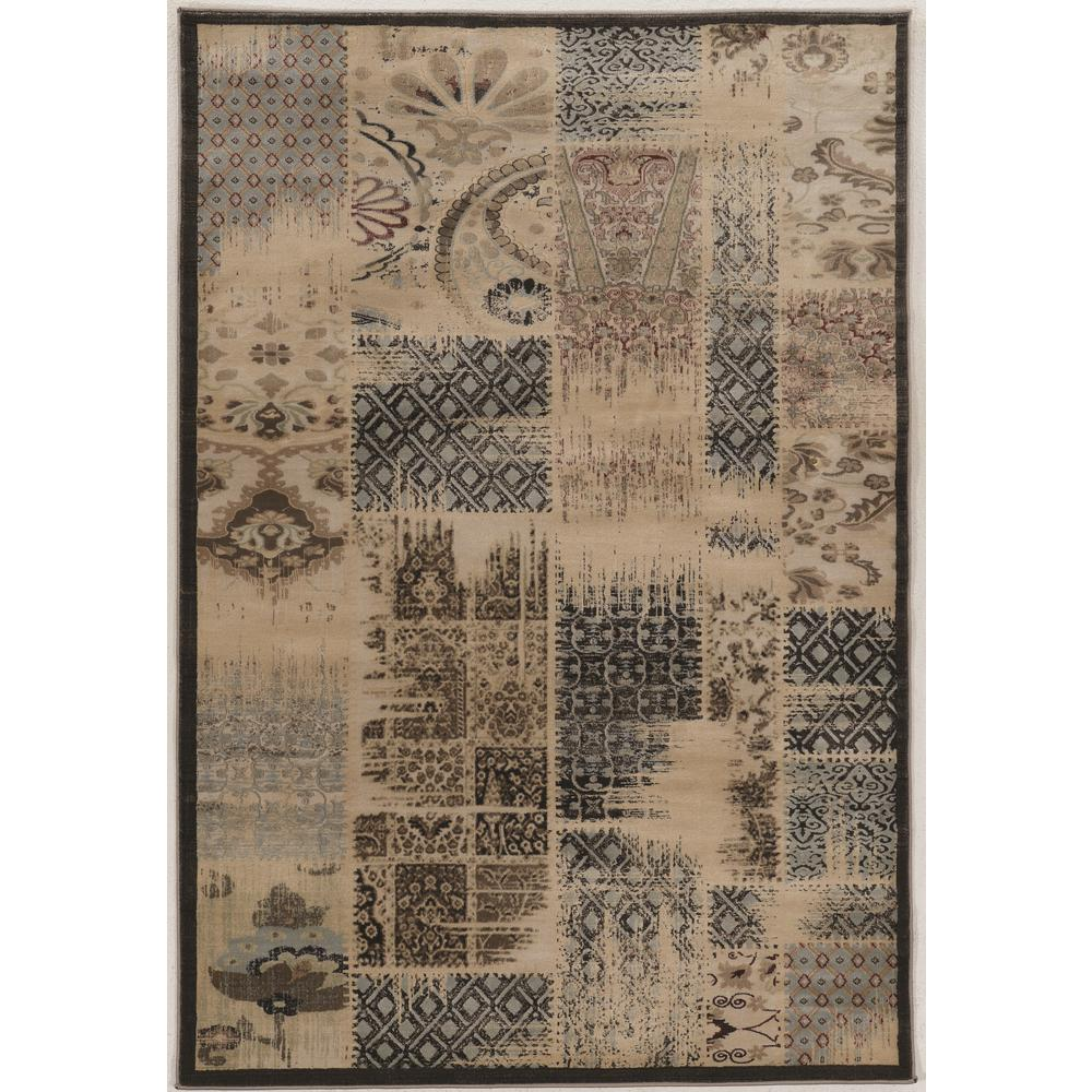 Linon home decor jewell collection vintage patch work 8 ft x 10 ft area rug rugbyj1181 the - Vintage home decorating collection ...