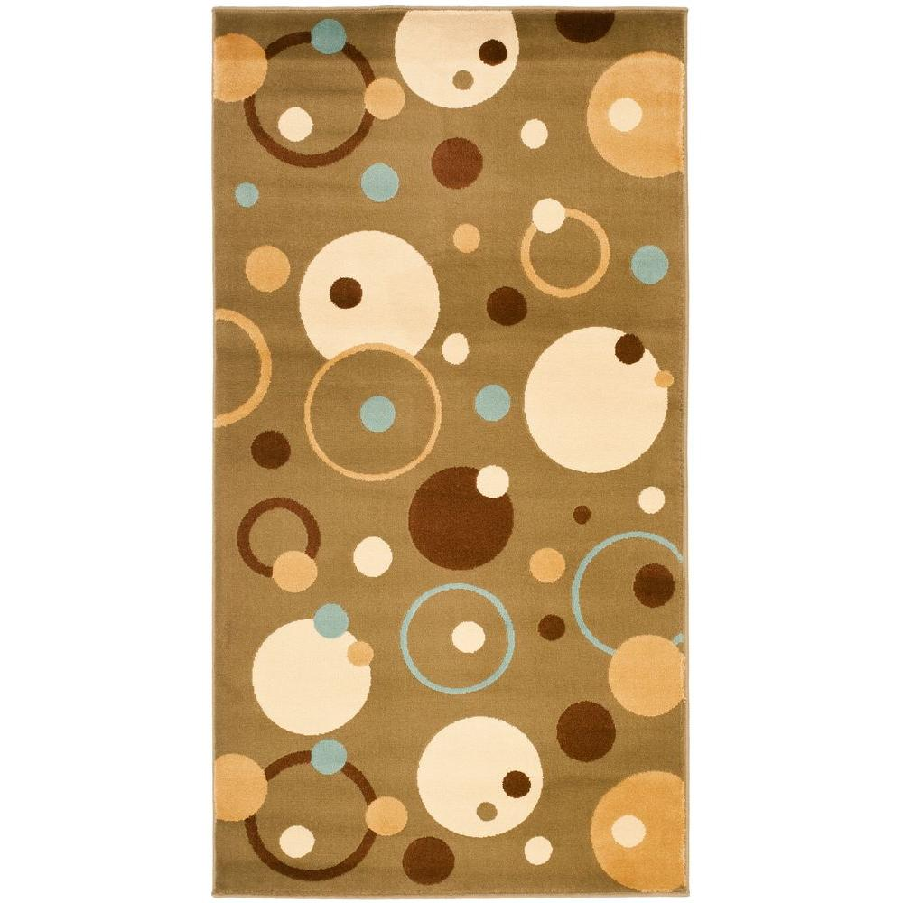 Porcello Green/Multi 2 ft. 7 in. x 5 ft. Area Rug