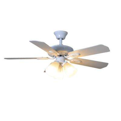 Glendale 42 in. Indoor White Ceiling Fan with Light Kit