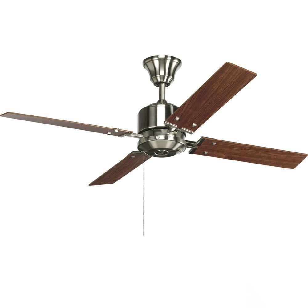 Progress Lighting North Park 52 In Indoor Brushed Nickel Modern Ceiling Fan