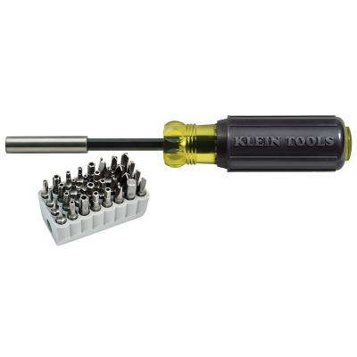 Magnetic Screwdriver with 32-Piece Bit Set