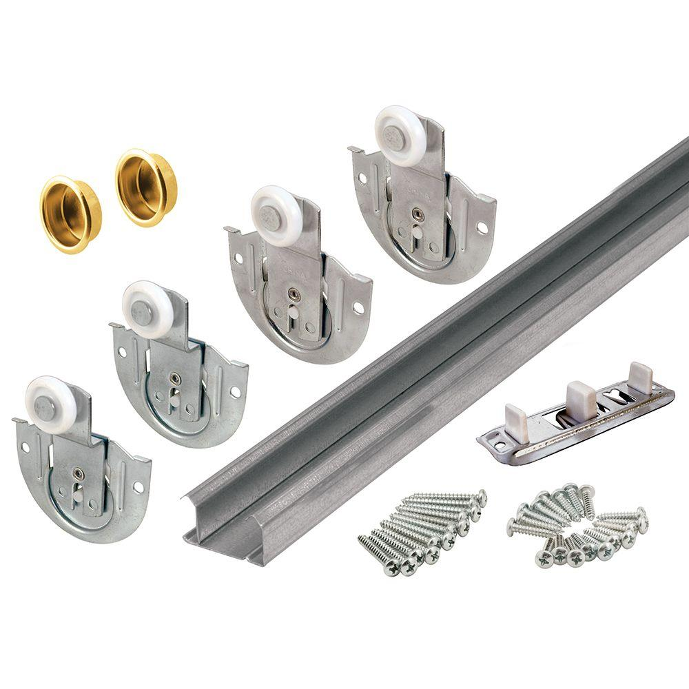 Prime Line Bi Pass Closet Door Track Kit 163589 The Home Depot