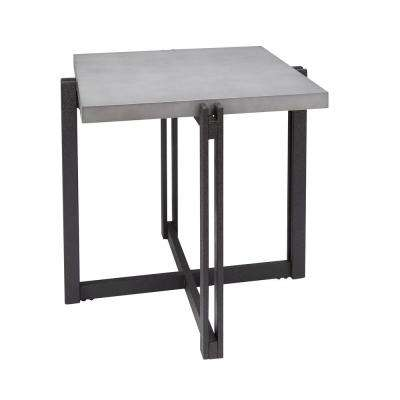 Dakota Gray Square Concrete Finish Top End Table