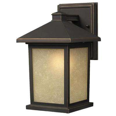 Lawrence 1-Light Oil-Rubbed Bronze Outdoor Wall Light