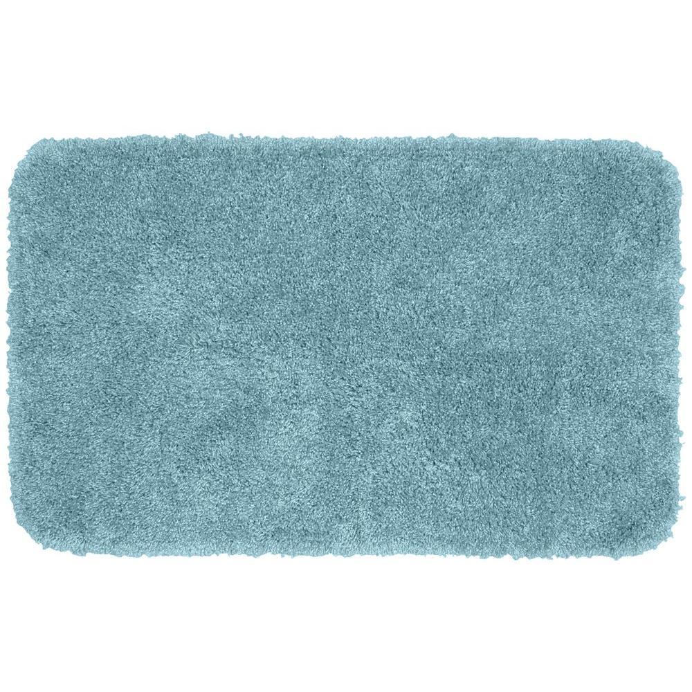 Washable Bathroom Carpet: Garland Rug Serendipity Basin Blue 30 In. X 50 In